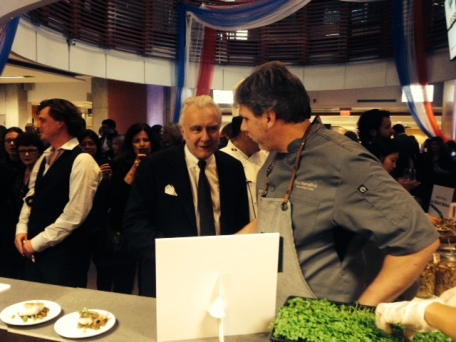 Chef Benallick with Chef Ducasse at GBC
